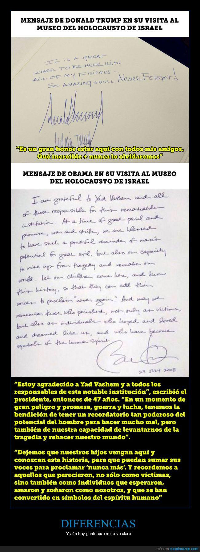 dedicatoria,donald trump,escrito,museo del  holocausto,obama