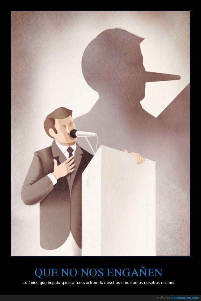 gobierno,mentira,mentiroso,nariz,Pinocho,político,pueblo,rebelión