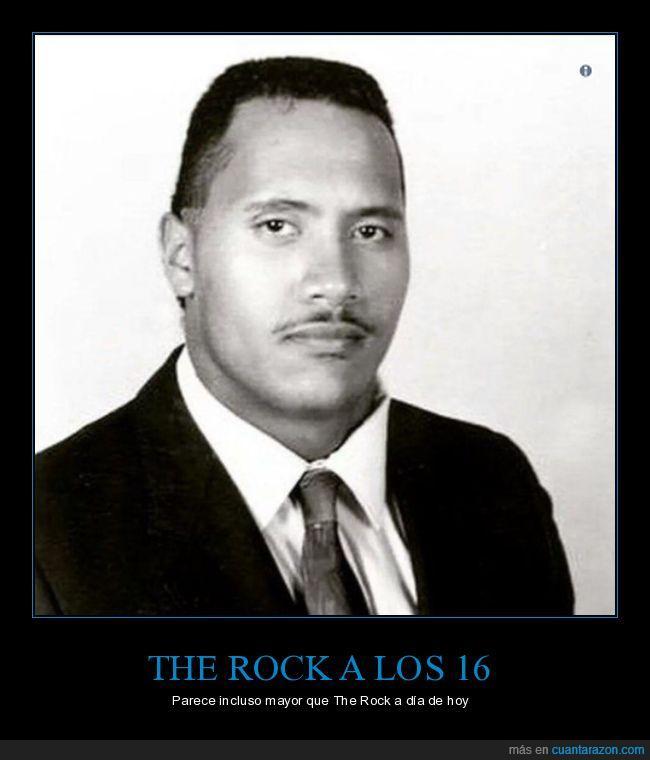 bigote,dwayne johnson,foto de graduación,instituto,the rock