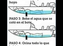 Enlace a Cómo sobrevivir a un bote agujereado en 4 pasos