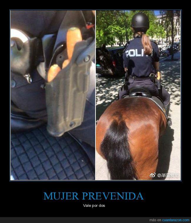 caballo,jinete,policìa,zanahorias