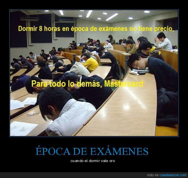 dormir,exámenes