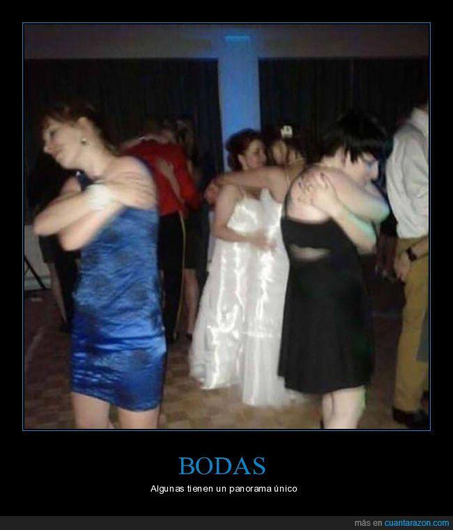 baile,boda,novia,panorama,raro,triste