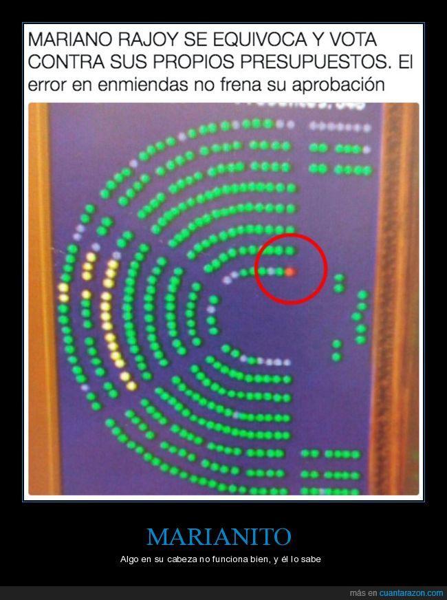 marianito,Mariano Rajoy,presidente de España,votación
