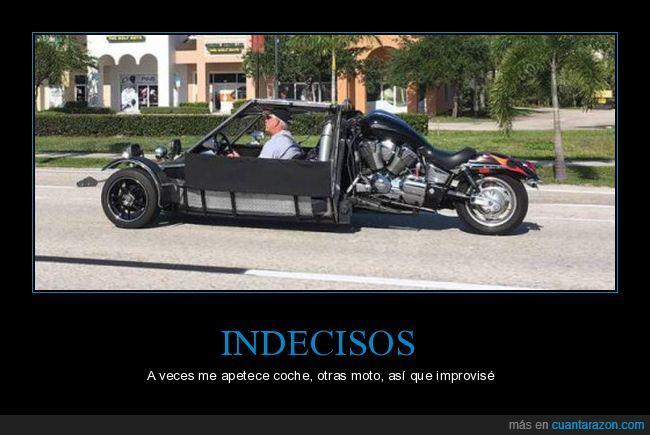 coche,conducir,indecisión,indeciso,moto,ruedas
