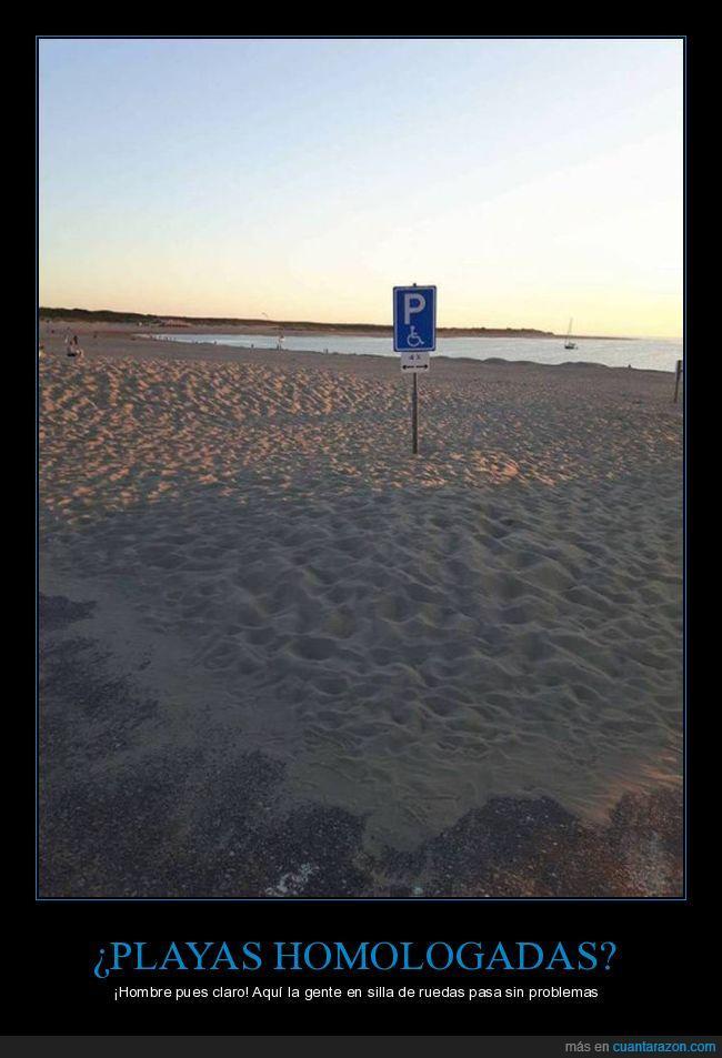 arena,homologada,minusvalidos,playa,silla de rueda