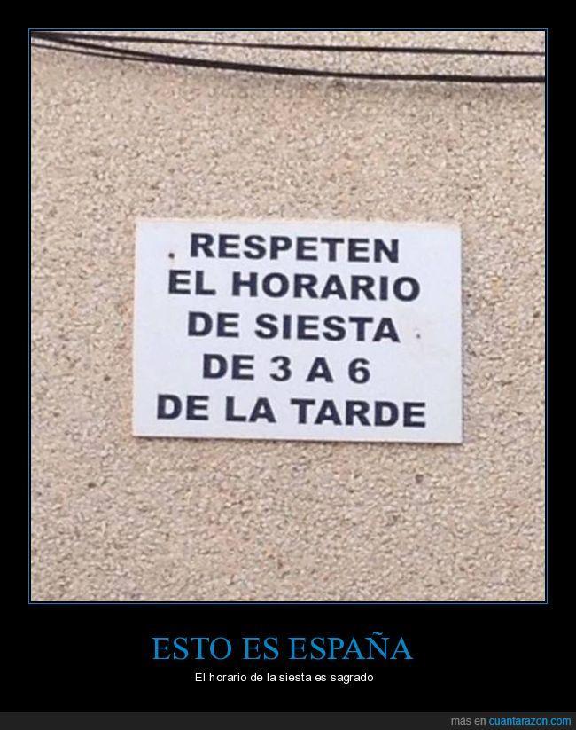 España,horario,sagrado,siesta