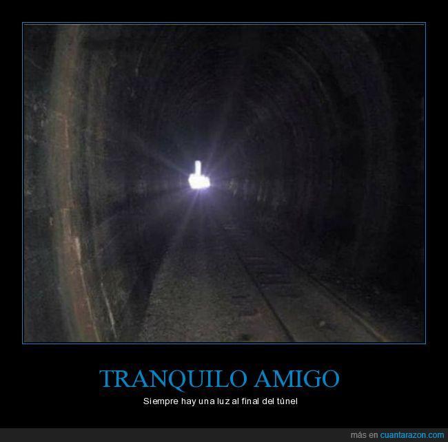 dedo,luz,túnel