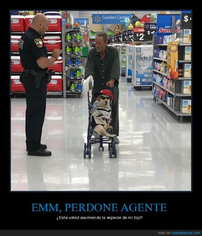 agente,bebé,carrito,perro,supermercado,walmart