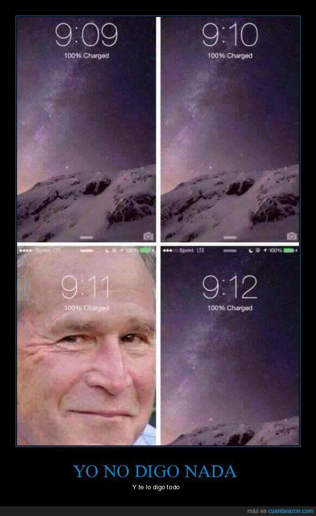 911,bush,conspiración,hora,iphone,tiempo