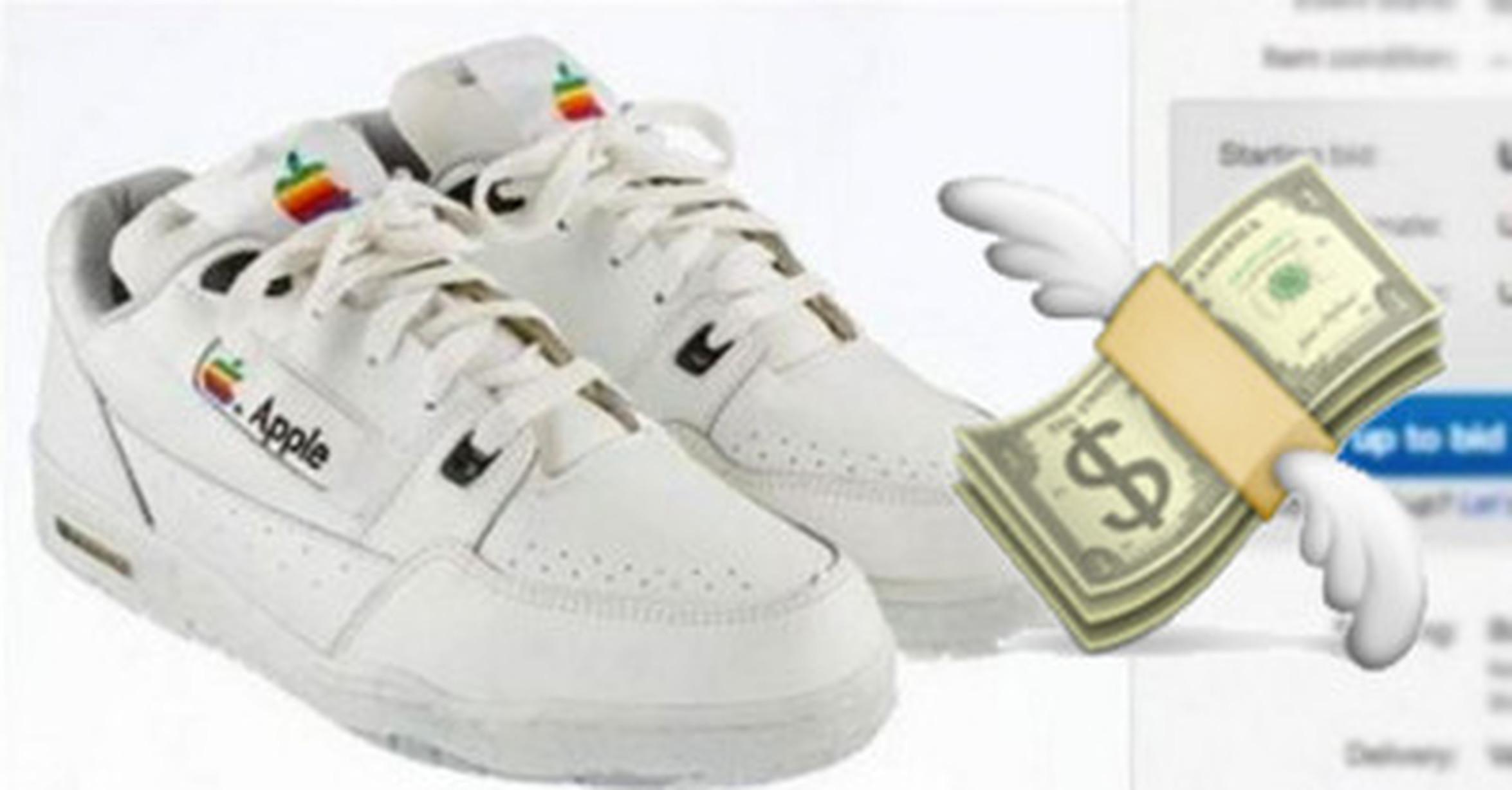 Motel especificar Lo anterior  Cuánta razón! / 'Ni son Reebok, ni son Nike': Subastan zapatillas Apple por  un precio astronómico