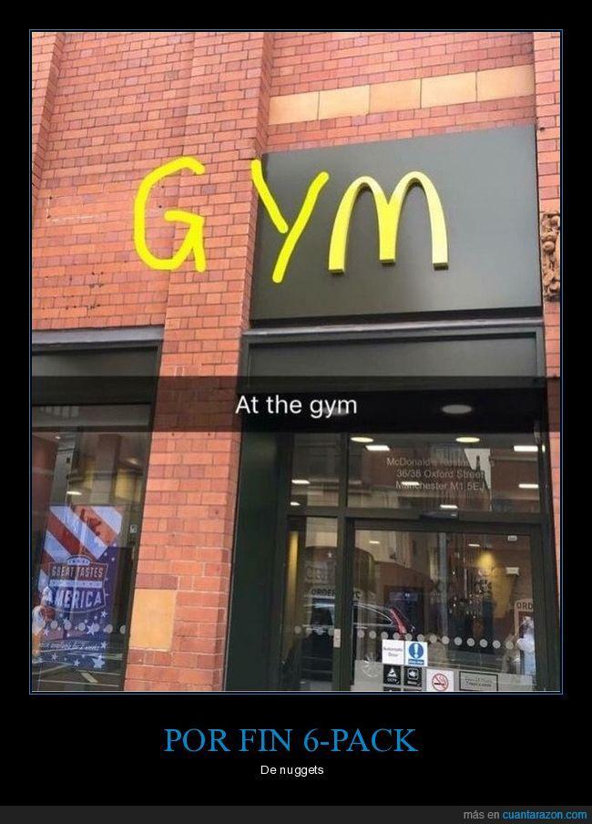 gimnasio,gym,mcdonalds,nuggets