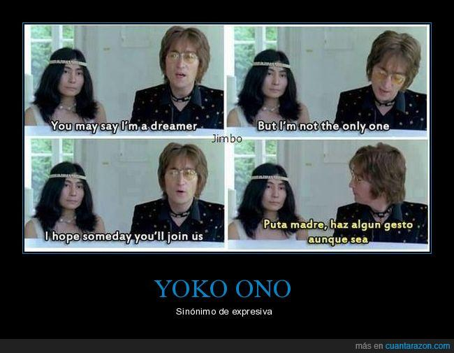 cancion,expresion,gestos,Imagine,John Lennon,Yoko Ono