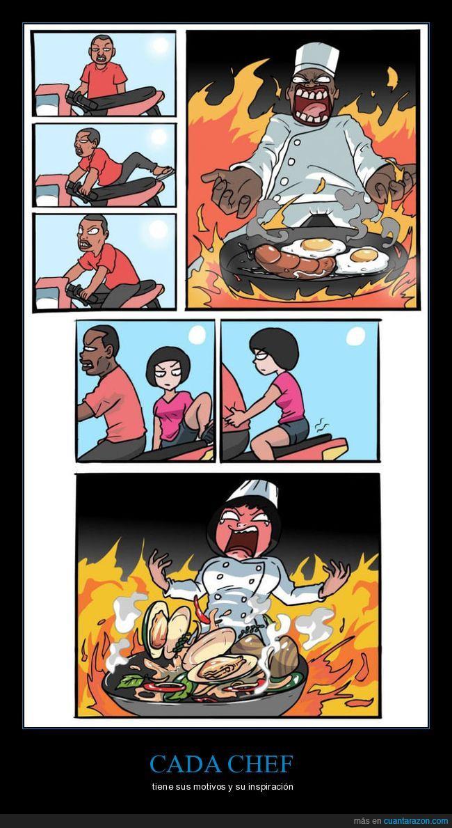 chef,cocinar,quemarse