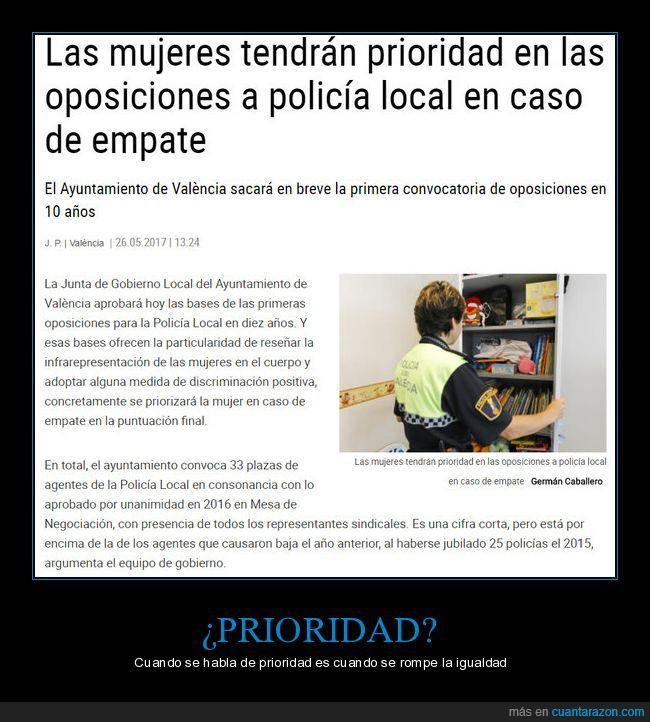 igualdad,polémico?,policía,prioridad,Valencia