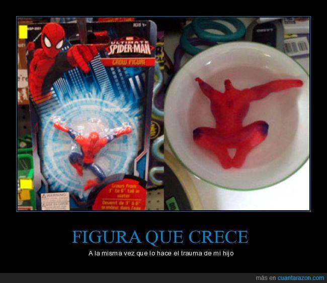 crece,figura,spiderman,trauma