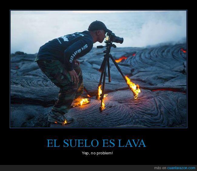 fotografo,lava,suelo