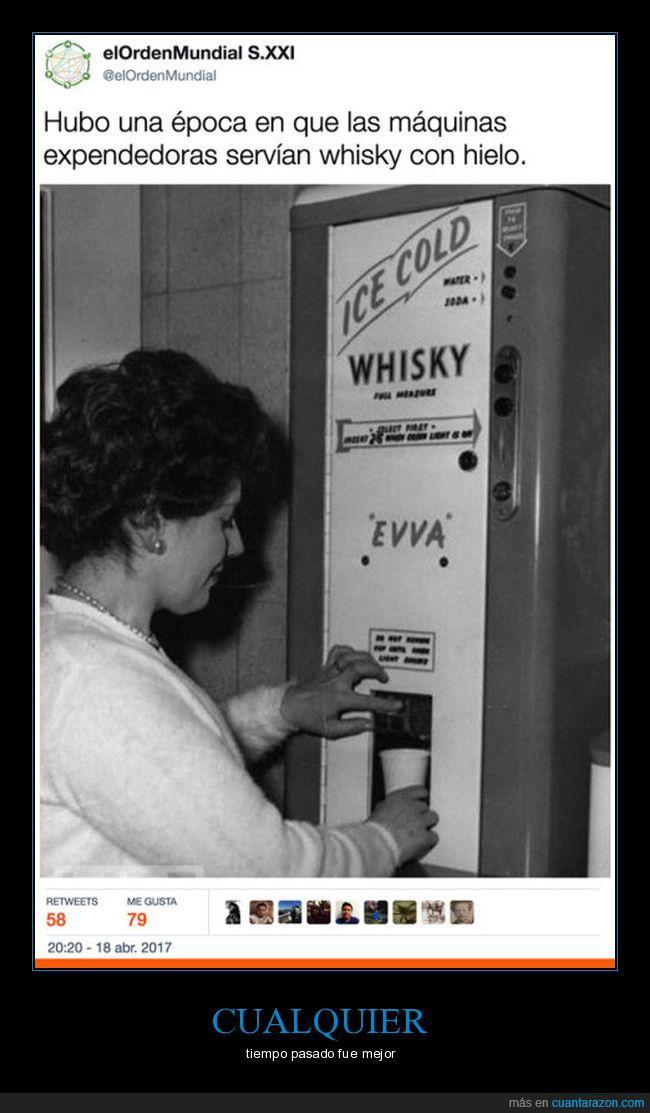 máquina,pasado,whisky