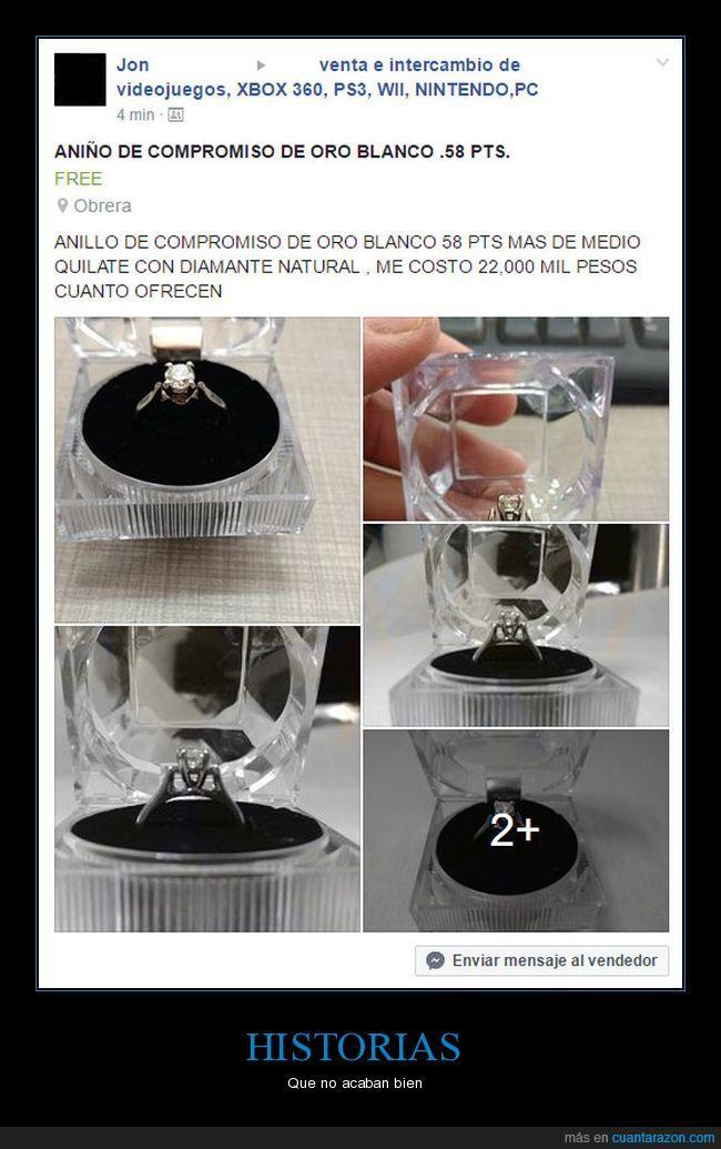 anillo,captura,facebook,venta
