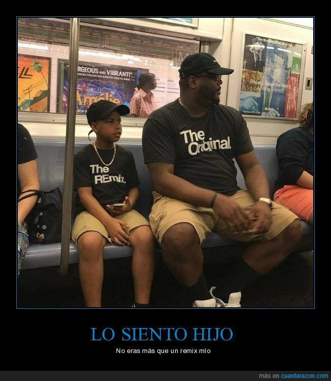 camiseta,hijo,original,padre,remix