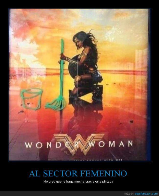 fregona,marquesina,Wonder woman
