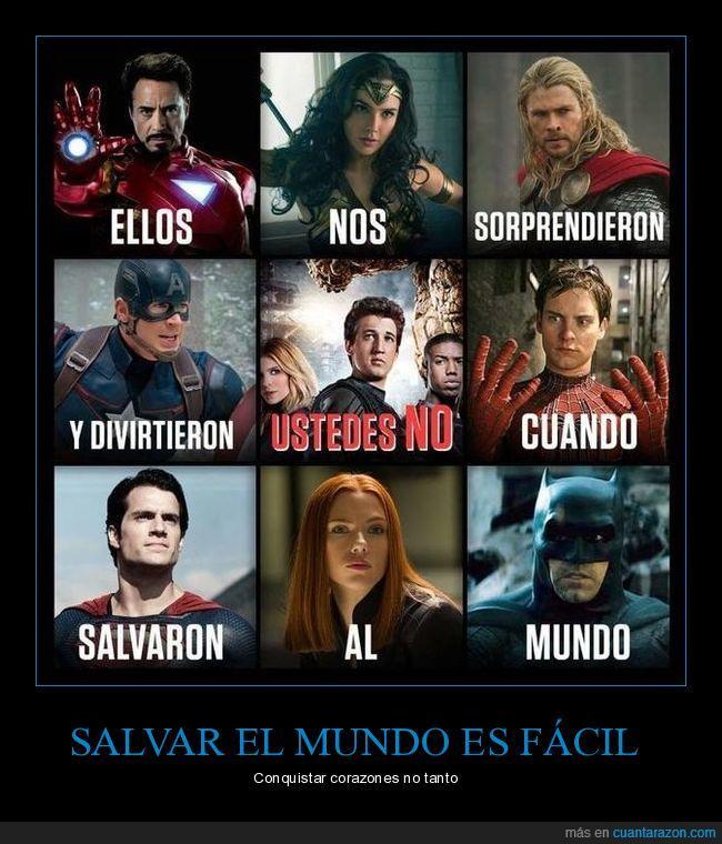 divertir,héroes,salvar el mundo