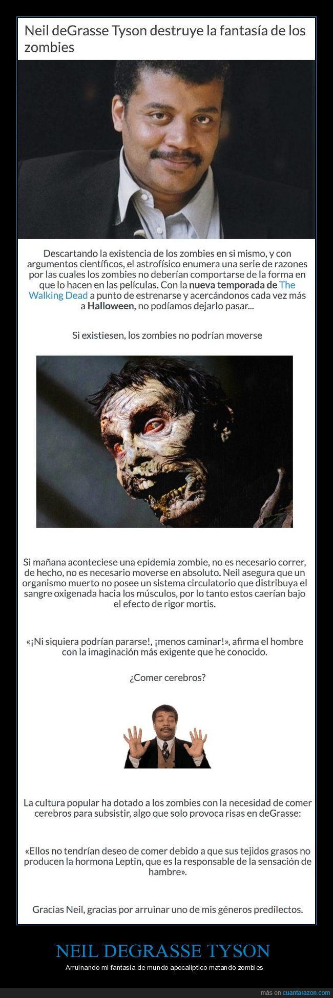 fantasía,irreal,Neil deGrasse Tyson,zombies
