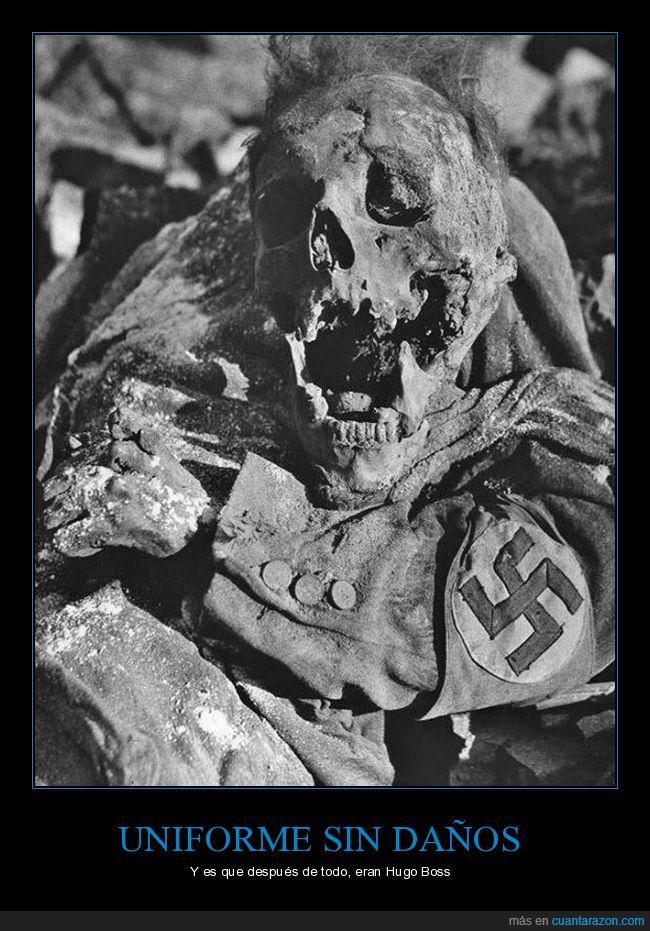 nazi,Soldado alemán despues de ser rociado con fósforo blanco ardiendo en Dresde 1945,uniforme