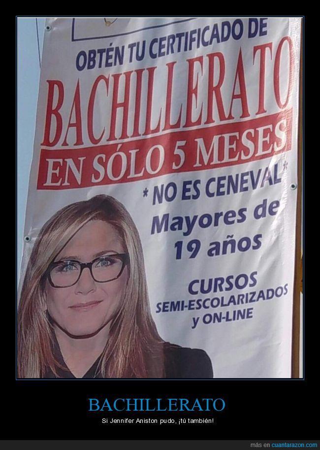 Bachillerato,escuela,Jennifer Aniston,prepa