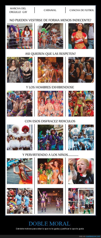 carnaval,doble,exhibir,futbol,gay,hombres,moral,mujeres,niños
