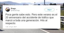 Enlace a Este verano es el 20 aniversario del accidente de tráfico que marcó a toda una generación