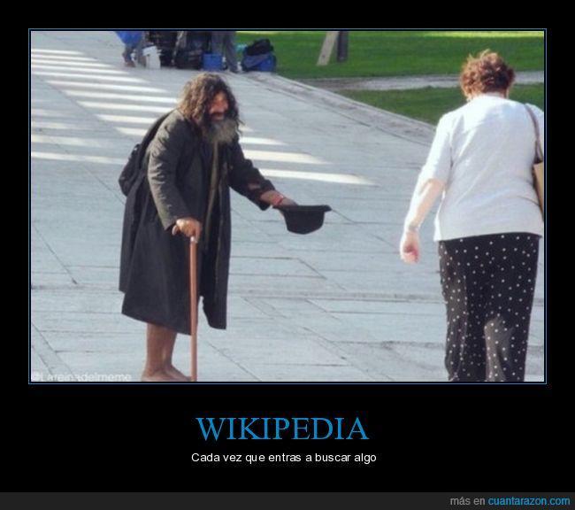 donativos,limosna,pedir,wikipedia