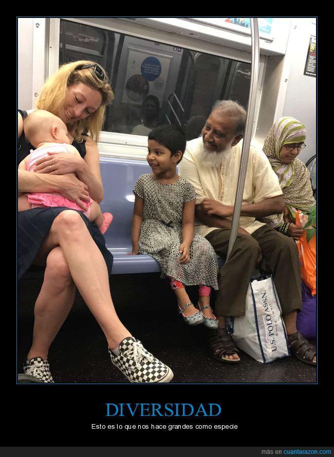 diversidad racial,metro,nyc,razas