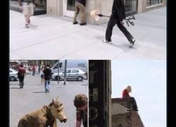 Enlace a  El escultor Mark Jenkins coloca maniquíes por la ciudad para trolear a la gente