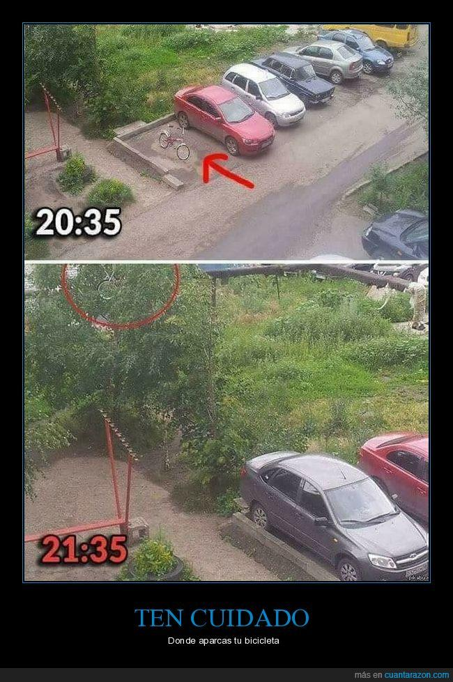 aparcar,bicicleta