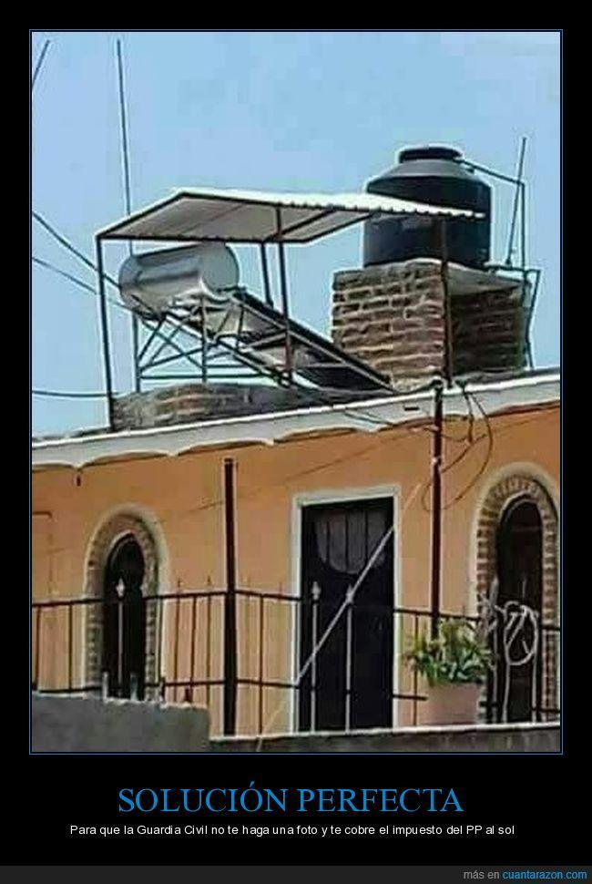 celdas solares,idiotez,paneles,techo
