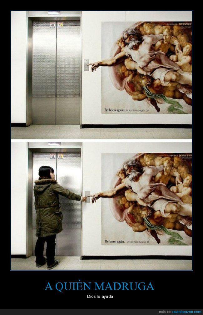 ascensor,dedo,dios,mano