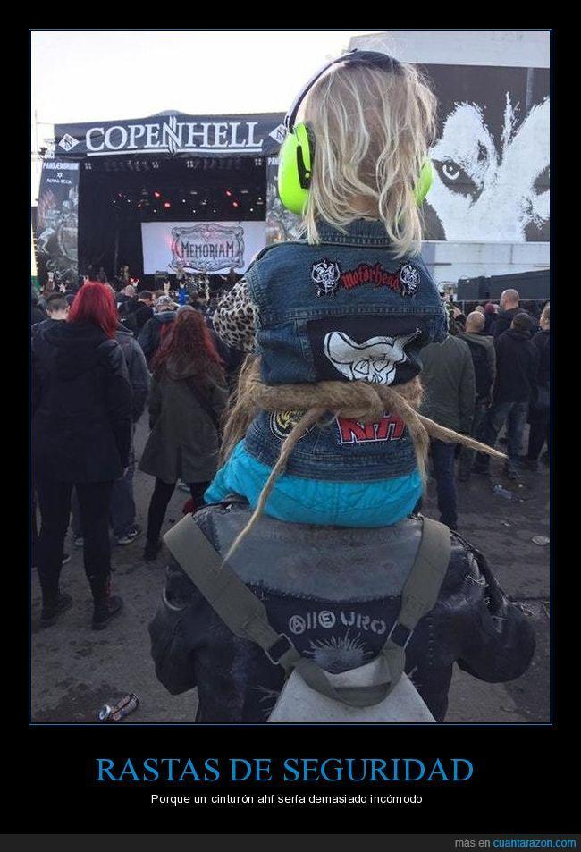 cinturón,niña,rastas