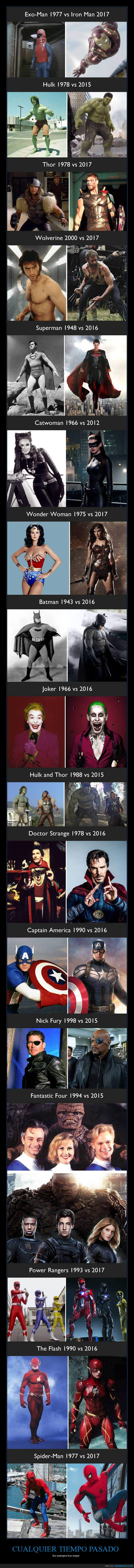 antes,después,superhéroes