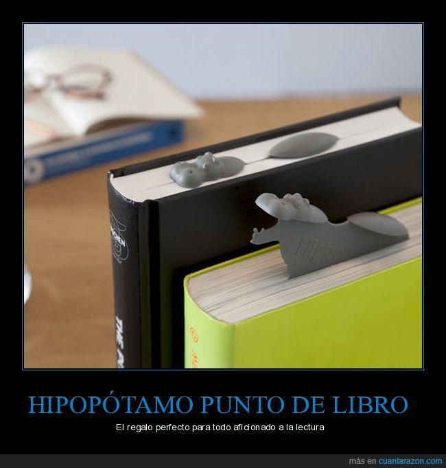 hipopótamo,punto de libro