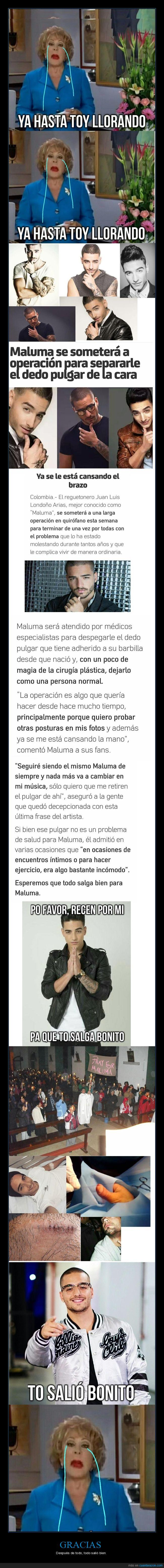 dedos,Triste historia con Maluma