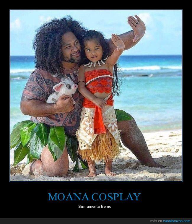 arena,cosplay,Moana,película,playa