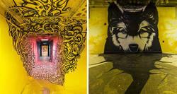 Enlace a Escuela pide a 100 grafiteros que la pinten antes de ser renovada, y los resultados son mejores