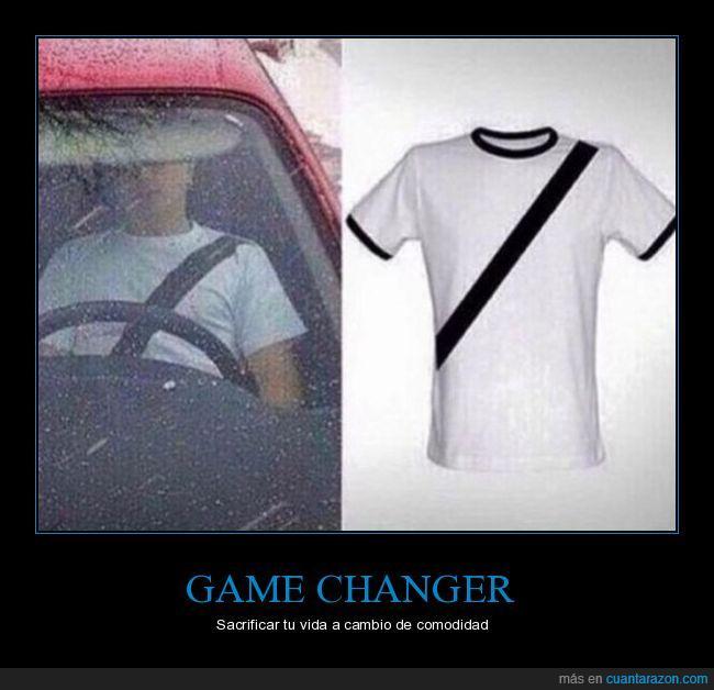 camiseta,cinturón de seguridad