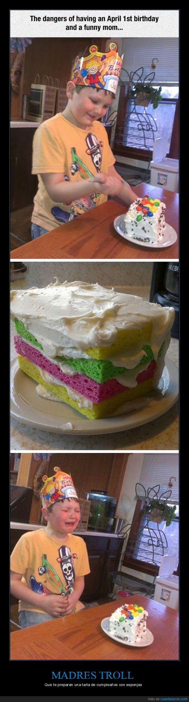 cumpleaños,esponja,tarta,troll