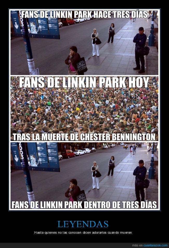 Chester Bennington,de repente todos son fans de LP,gente que sigue la corriente,Linkin park,me gustan algunas de sus canciones,no me considero fan,Q.E.P.D. descanse,se ha suicidado :(,vocalista
