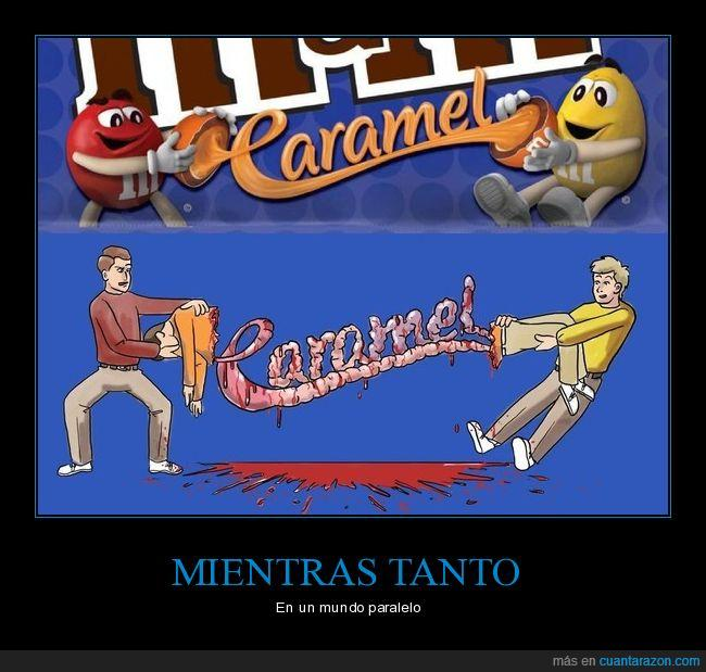 canibalismo,caramelo,m&ms