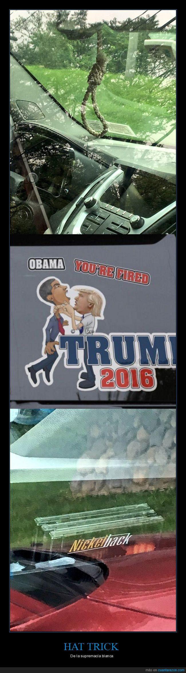 blanco,coche,donald trump,hat trick,wtf