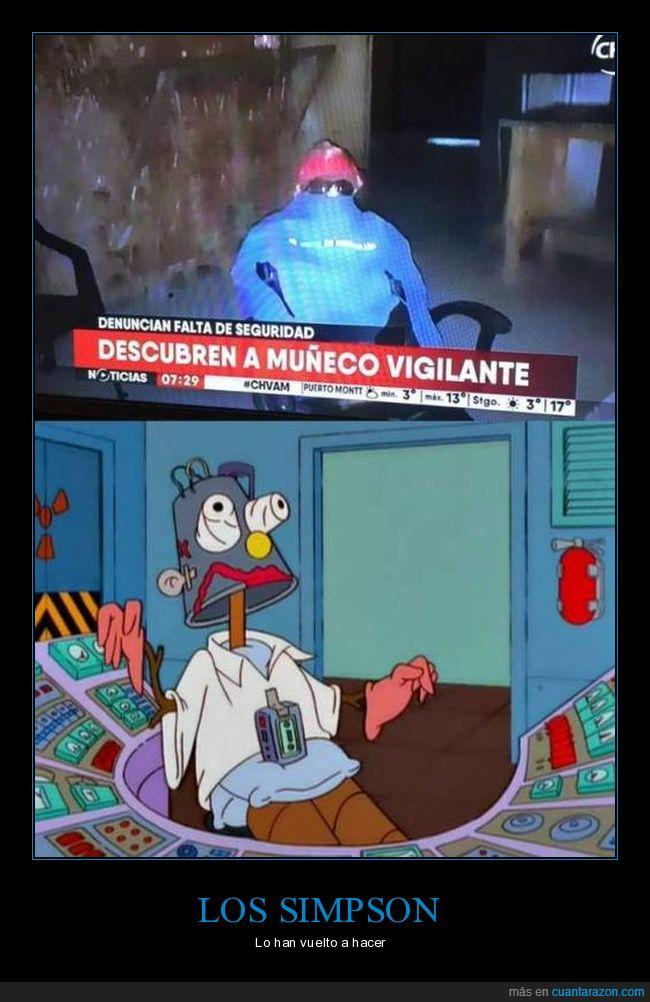 fake,muñeco vigilante,simpson