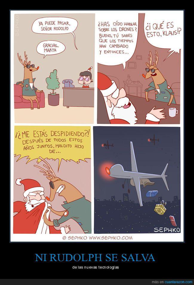 drones,navidad,renos,rudolph,santa claus